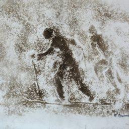 Narciarze Tomaszewski obraz 62 x 48 cm