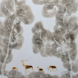 deer in the forest 36×28 cm 2010 foto3