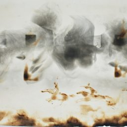 Pogoń (Chase) fire and smoke 32,5×69 cm 1990