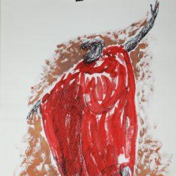 Szkic T2_85, 45,5×61 cm tusz na papierze