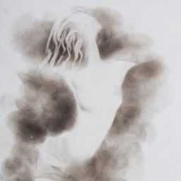 o poranku (in the morning), 2010, dym, karton (smoke on cardboard), 29.5 x 45.5 cm