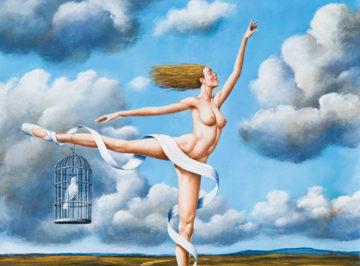 Rafał Olbiński, 6301 – Escape from Paradise – 68×56 cm