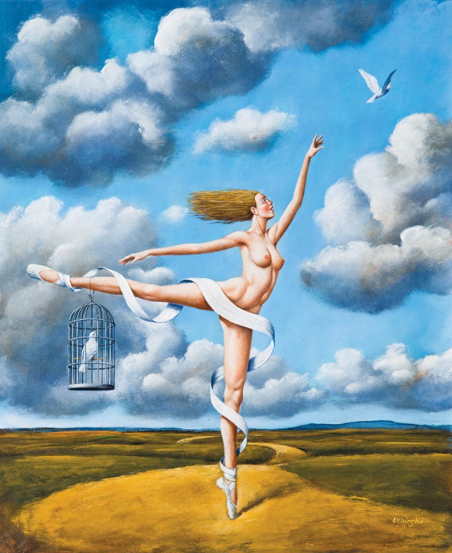 Rafał Olbiński, 6301 - Escape from Paradise - 68x56 cm