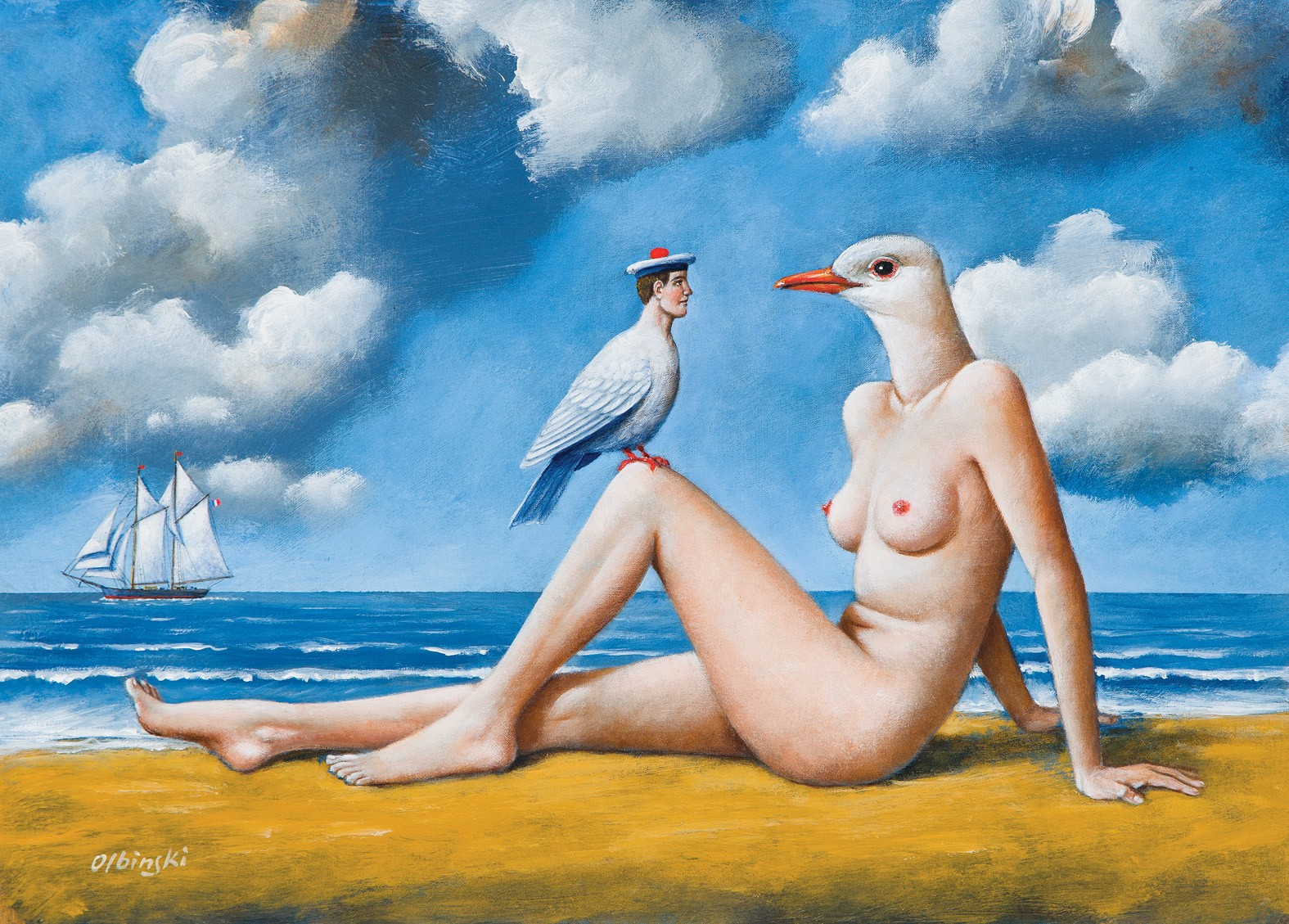 Rafał Olbiński, 7014 - French Sailor Lover - 33x45 cm