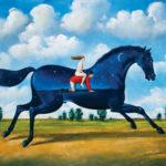 Rafał Olbiński, 7016 - Secret Life of Jockey - 40x45 cm