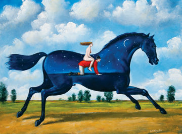 Rafał Olbiński, 7016 – Secret Life of Jockey – 40×45 cm